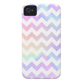 Pastel Rainbow White Chevron iPhone 4 Case-Mate Case