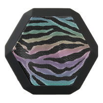 Pastel Rainbow Zebra Animal Print Speaker