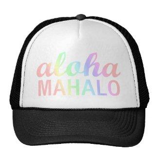 Pastel Rainbows Aloha Mahalo Typography