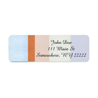 Pastel Rectangles of Simulated Corkboard Label