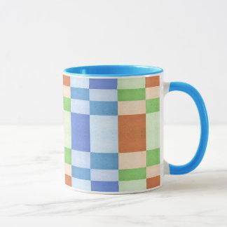 Pastel Rectangles of Simulated Corkboard Mug