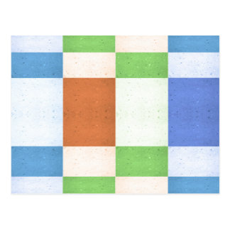 Pastel Rectangles of Simulated Corkboard Postcard