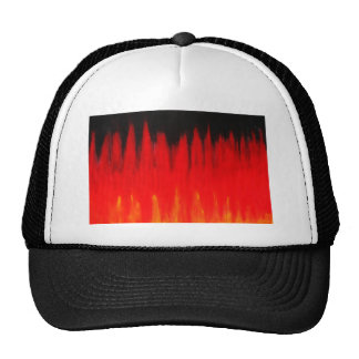 Pastel Red Fire Flames (Natural Symbolism) Trucker Hat