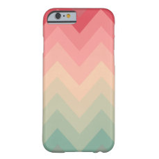 Pastel Red Pink Turquoise Ombre Chevron Pattern Barely There iPhone 6 Case
