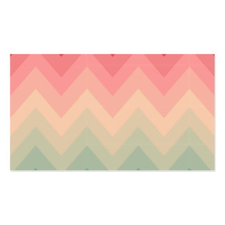 Pastel Red Pink Turquoise Ombre Chevron Pattern Business Card