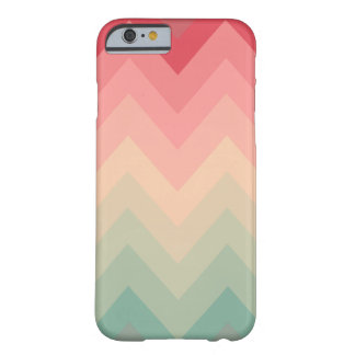 Pastel Red Pink Turquoise Ombre Chevron Pattern iPhone 6 Case
