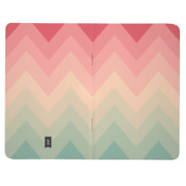 Pastel Red Pink Turquoise Ombre Chevron Pattern Journal