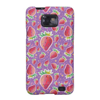 Pastel Red Purple Strawberry Pattern Samsung Galaxy S2 Cover