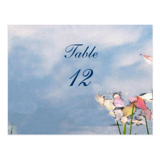 Pastel Reflections Table Number Postcard