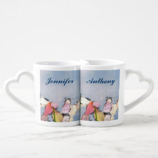 Pastel Reflections Wedding Lovers Mugs