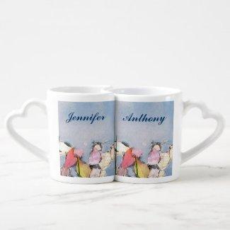Pastel Reflections Wedding Lovers Mugs Couples' Coffee Mug Set