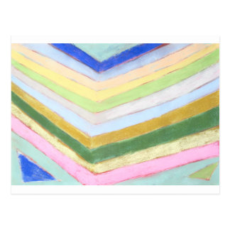 Pastel Refraction (abstract naive expressionism) Postcard