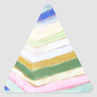 Pastel Refraction (abstract naive expressionism) Triangle Sticker