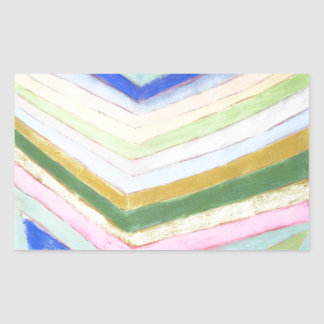 Pastel Refraction (abstract naive expressionism) Rectangular Sticker