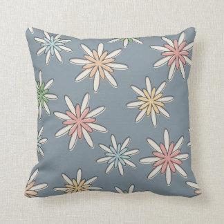 Pastel Retro Flower Pillow