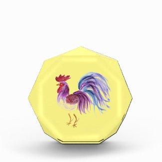 Pastel Rooster by EelKat Wendy C Allen