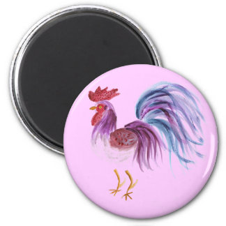 Pastel Rooster by Wendy C. Allen Magnet