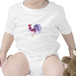 Pastel Rooster by Wendy C. Allen Baby Bodysuits
