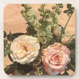 Pastel rose coasters
