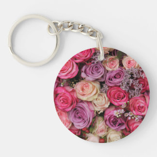 Pastel rose experience key chain