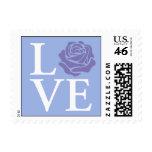 Pastel Rose Love Stamp Blue