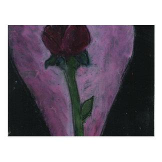 Pastel rose Romantic Design Postcard