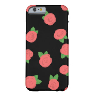 Pastel Roses Black Barely There iPhone 6 Case