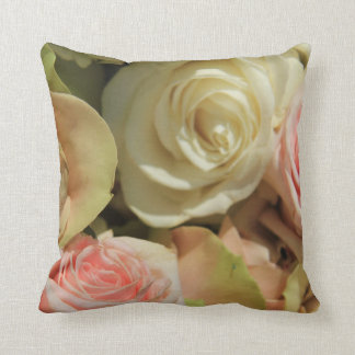 Pastel Roses by The Rose Garden Throw Pillow