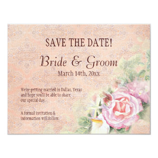Pastel Roses & Calla Lilies  - Save the Date Card Custom Invites