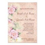 "Pastel Roses & Calla Lilies Wedding Invitation 5"" X 7"" Invitation Card"