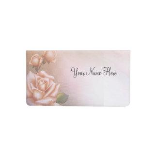 Pastel roses checkbook cover