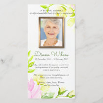 Pastel Roses Funeral Sympathy Thank You Card