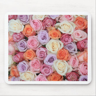 Pastel roses mouse pad