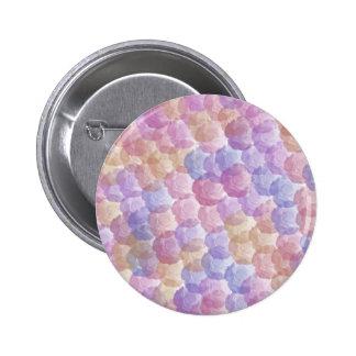 Pastel Roses Pattern Button
