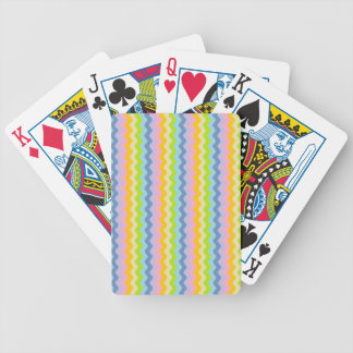 Pastel Rows of Rickrack Playing Cards