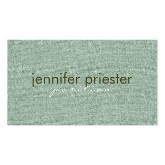 Pastel Sage Green Burlap Linnen Texture Business Card Templates