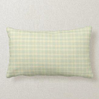 Pastel Sage Green & Cream Indoor Lumbar Pillow