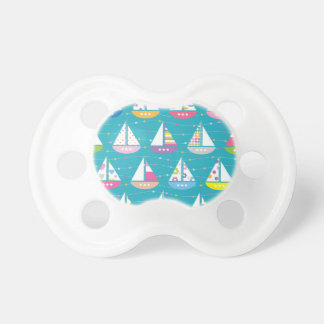 Pastel Sailboat Pattern Pacifier