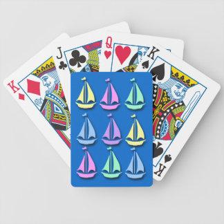 Pastel Sailboat Pattern Playing Cards