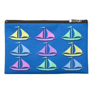 Pastel Sailboat Pattern Travel Accessory Bag