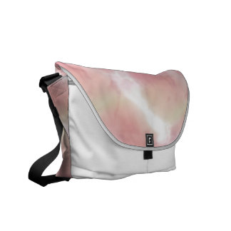 Pastel Salmon Peach Pink White Blended Travel Bags Messenger Bag