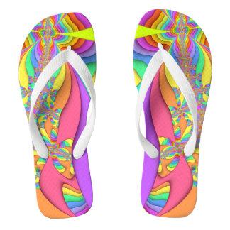 Pastel Sand Art Fractal Flip Flops