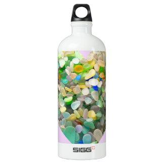 Pastel Sea Glass Heart In Pink SIGG Traveler 1.0L Water Bottle