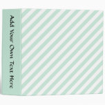 Pastel Sea Green and White Stripes. Binders