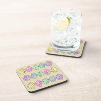 Pastel Sea Shells Pattern Drink Coaster Set (6)