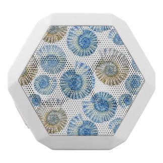 Pastel Seashell Pattern 2 White Bluetooth Speaker