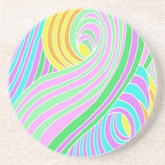 Pastel Seventies Trippy Background Coaster