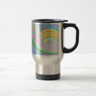 Pastel Seventies Trippy Background Travel Mug