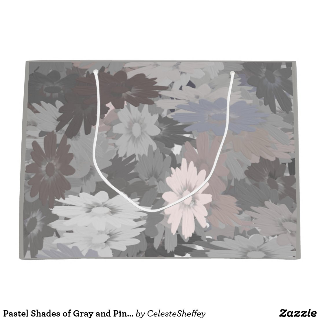 Pastel Shades of Gray and Pink Gift Bag