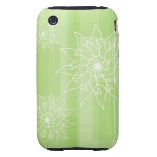 Pastel shades of green oriental floral tough iPhone 3 case